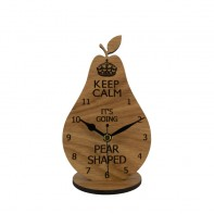 Keep Calm Pear Mantel Clock