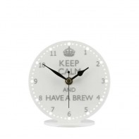 Keep Calm Brew Mantel Clock