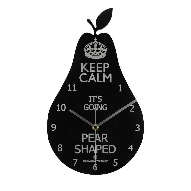 Keep Calm Pear Wall Clock