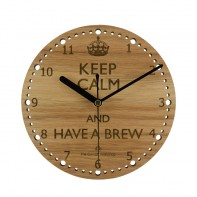 Keep Calm Brew Wall Clock