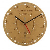 Surfer Time & Tide Wall Clock